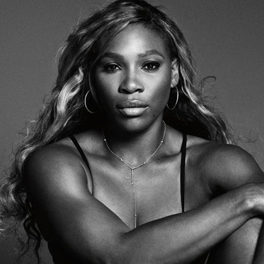 serena black and white