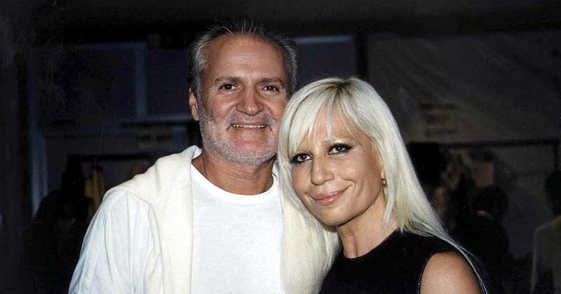 Donatella versace adn Gianni versace