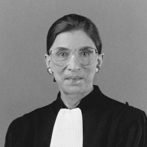 Ruth Bader Ginsburg supreme court justice who stood up for equality in society.